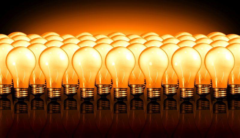 Orange light bulbs