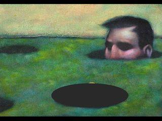 Whack a mole guy postcard image