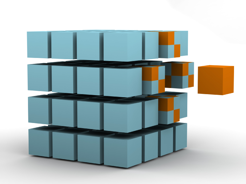 Innovation puzzle rubix box creative breakthrough