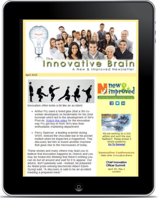 Newsletter on ipad